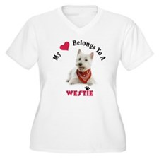 My Heart Belongs To A Westie Plus Size T-Shirt