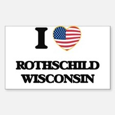 I love Rothschild Wisconsin Decal