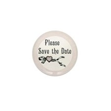 Save the Date Wedding Mini Button (10 pack)