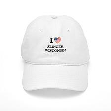 I love Slinger Wisconsin Baseball Cap