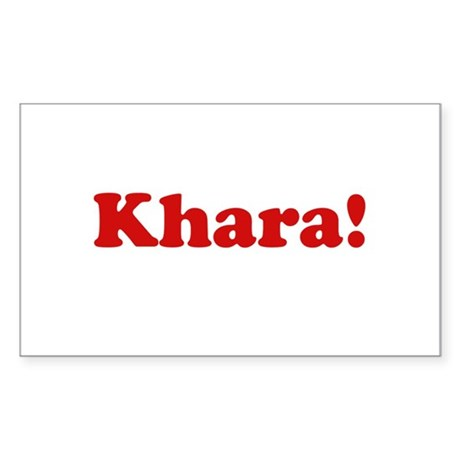 Khara! Rectangle Sticker