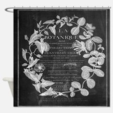 vintage chic botanical leaves Shower Curtain