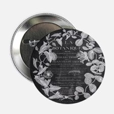 "vintage chic botanical leaves 2.25"" Button"