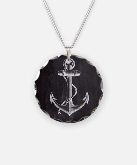 modern nautical anchor Necklace