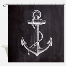 modern nautical anchor Shower Curtain
