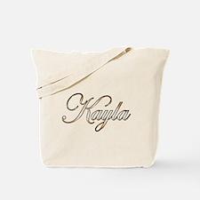 Gold Kayla Tote Bag