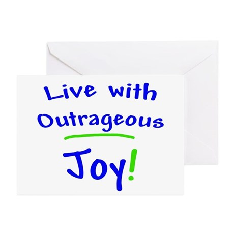 Outrageous Joy Greeting Cards (Pk of 10)