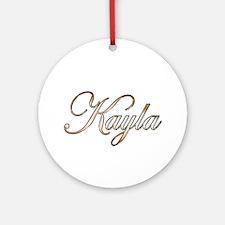 Gold Kayla Round Ornament
