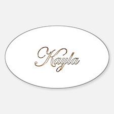 Gold Kayla Decal