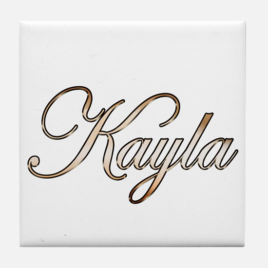 Gold Kayla Tile Coaster