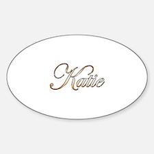 Gold Katie Sticker (Oval)