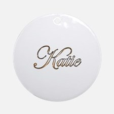 Gold Katie Round Ornament