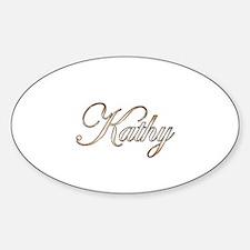 Gold Kathy Sticker (Oval)