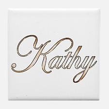 Gold Kathy Tile Coaster