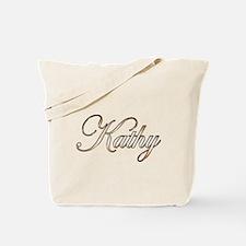 Gold Kathy Tote Bag