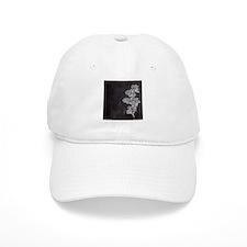 shabby chic floral chalkboard Baseball Cap