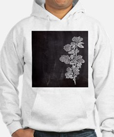 shabby chic floral chalkboard Hoodie