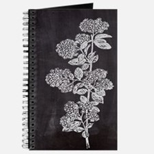 shabby chic floral chalkboard Journal