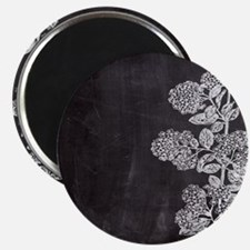 shabby chic floral chalkboard Magnets