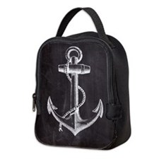 modern nautical anchor Neoprene Lunch Bag