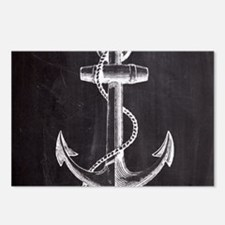 modern nautical anchor Postcards (Package of 8)