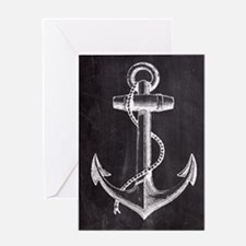 modern nautical anchor Greeting Cards