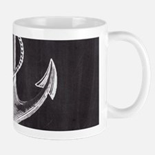 modern nautical anchor Mugs