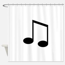 Beamed 8th Note Shower Curtain