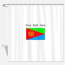 Eritrea Flag (Distressed) Shower Curtain