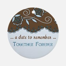 Fleur Save the Date Ornament (Round)