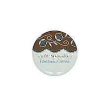 Fleur Save the Date Mini Button (10 pack)
