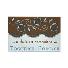 Fleur Save the Date Rectangle Magnet