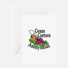 Grass Cutters Anonymous Greeting Cards
