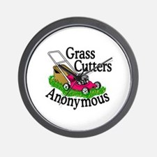 Grass Cutters Anonymous Wall Clock