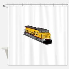 Train Engine Shower Curtain