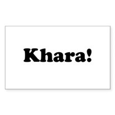 Khara! Rectangle Decal