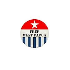 Free West Papua Morning Star Flag Logo Mini Button