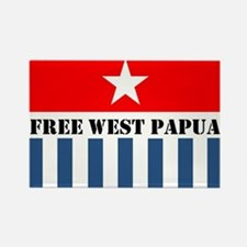 Free West Papua Morning Star Flag Logo Magnets
