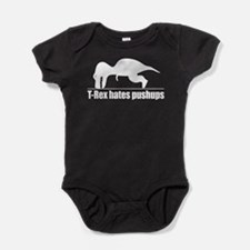 T-Rex hates pushups Baby Bodysuit
