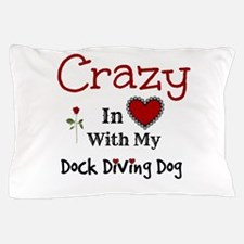 Dock Diving Dog Pillow Case