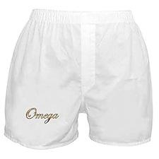 Gold Omega Boxer Shorts
