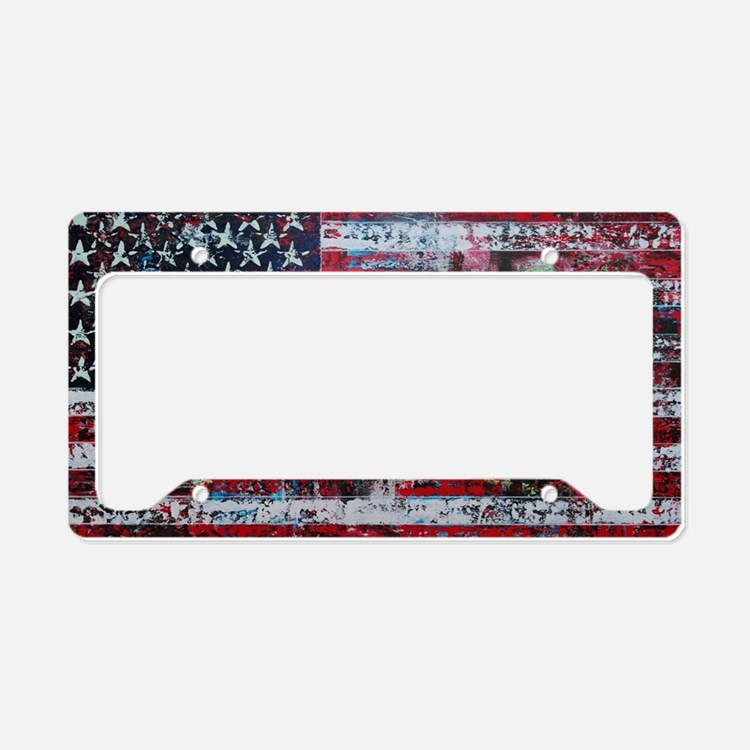 Cute Red abstract art License Plate Holder