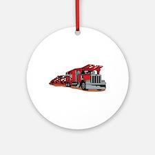 Car Hauler Ornament (Round)