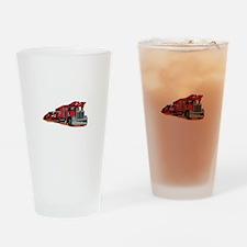 Car Hauler Drinking Glass