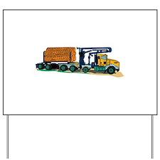 Logging Truck Yard Sign