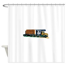 Logging Truck Shower Curtain