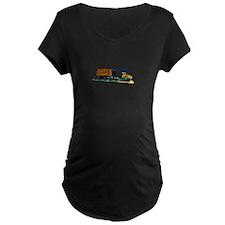 Logging Truck Maternity T-Shirt
