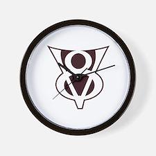 V8 Symbol Wall Clock