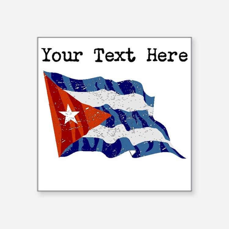 Cuba Flag (Distressed) Sticker