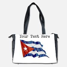 Cuba Flag (Distressed) Diaper Bag